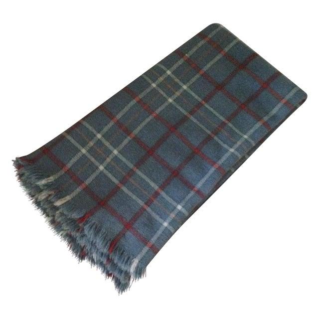 Vintage Plaid Wool Blend Blanket - Image 1 of 11