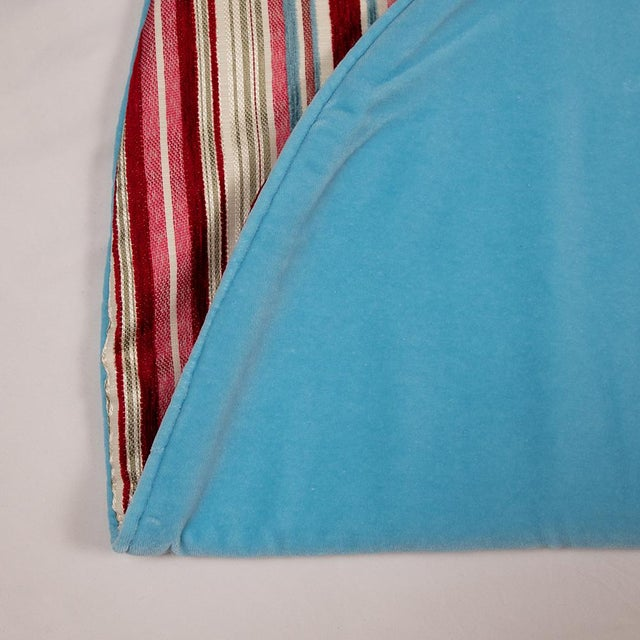 2010s Contemporary Red, Pink and Blue Striped Tree Skirt For Sale - Image 5 of 10
