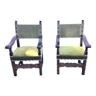 Italian Style Armchairs Late 19th Century For Sale