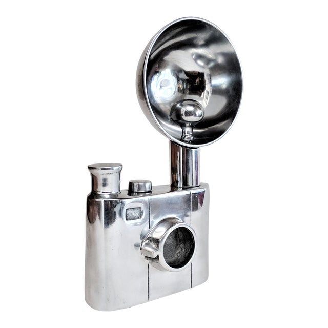 Aluminum Vintage Flash Camera Sculpture For Sale