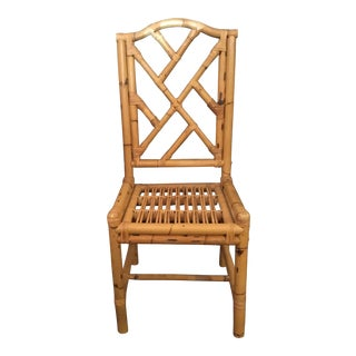 Vintage Mid Century Bamboo Side Chair For Sale