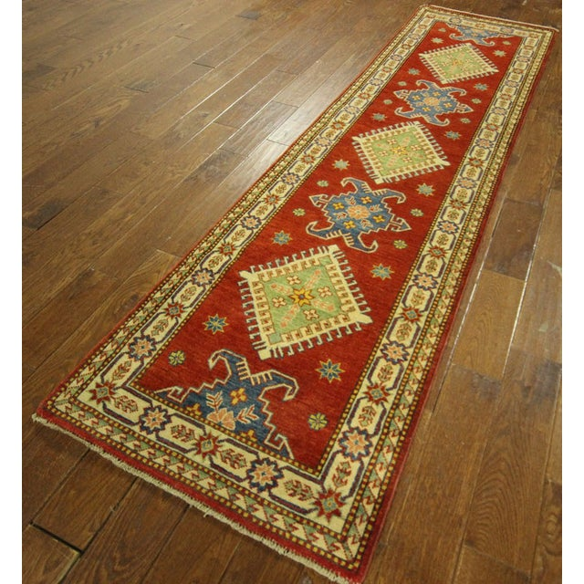 "Shirvan Red Kazak Runner Rug - 2'8"" x 9'6"" - Image 3 of 10"