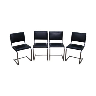 Mies Van der Rohe BRNO Armless Side Dining Chairs - Set of 4