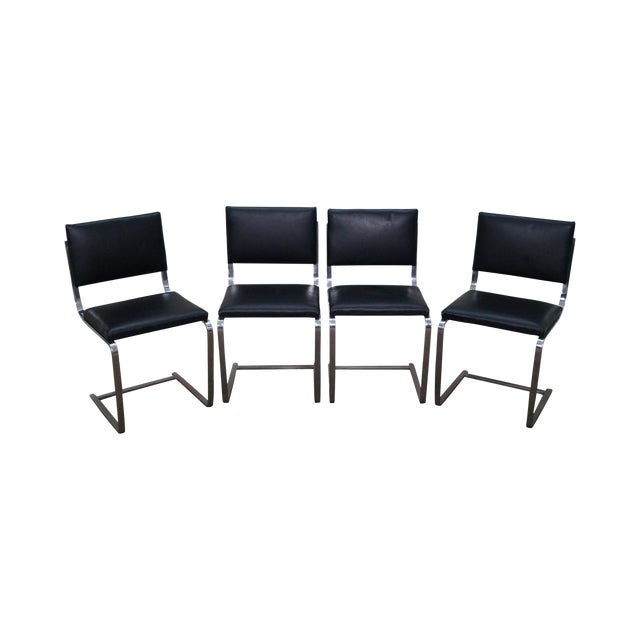 Mies Van der Rohe BRNO Armless Side Dining Chairs - Set of 4 For Sale