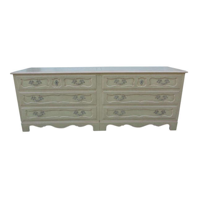 Baker Furniture Side-By-Side Double Chest of Drawers For Sale