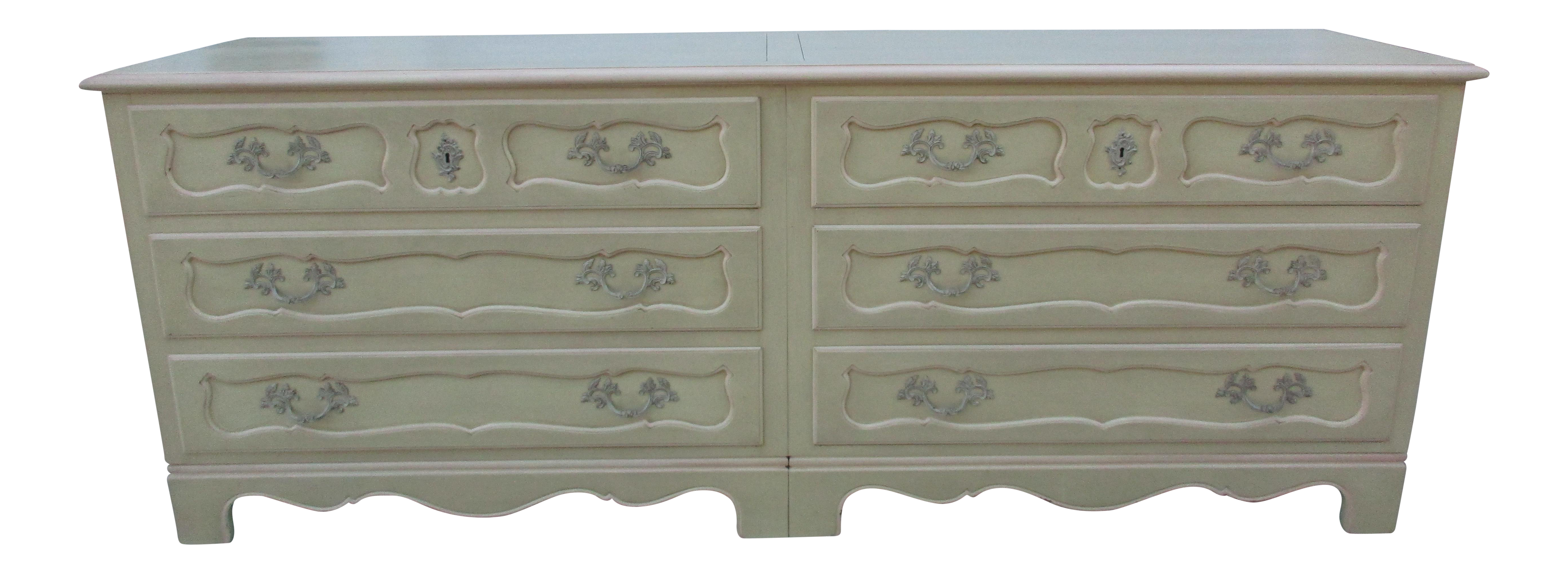 Baker Furniture Side By Side Double Chest Of Drawers