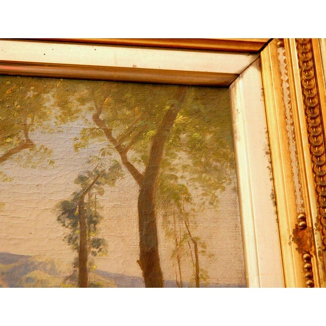 Canvas 19th Century Oil Painting For Sale - Image 7 of 8