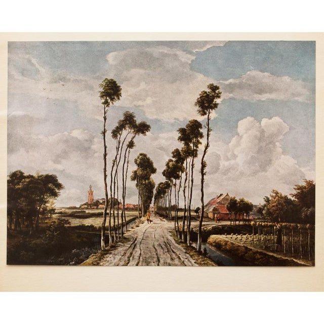 "A very pretty vintage tipped-in offset lithograph after ""The Avenue of Middelharnis"" painting by Meindert Hobbema. Printed..."