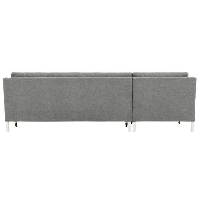 Casa Cosima Greta Sectional, Grey Flannel, Ivory Legs, Set of 2 For Sale - Image 4 of 6