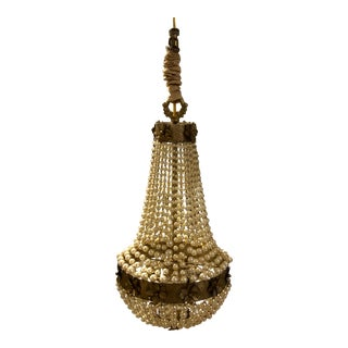Early 20th Century Petite Empire Pearl Chandelier For Sale