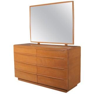 Mid-Century Modern 6-Drawer Mirrored Heywood Wakefield Dresser, Champagne For Sale