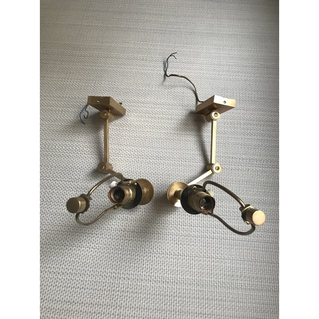 1970s Hinson Style Brass Swing Arm Wall Sconces - a Pair For Sale In New York - Image 6 of 13