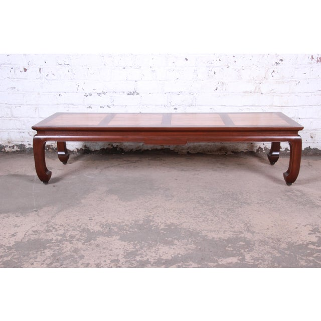 Asian Michael Taylor for Baker Chinoiserie Rosewood and Walnut Coffee Table, Newly Restored For Sale - Image 3 of 12