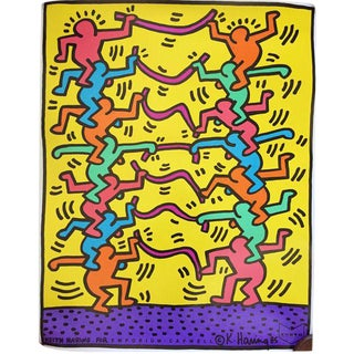 1985 Keith Haring Offset Lithograph for Emporium Capwell