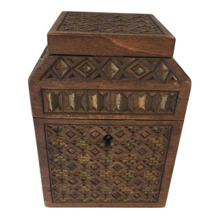 Moroccan Wood Box For Sale