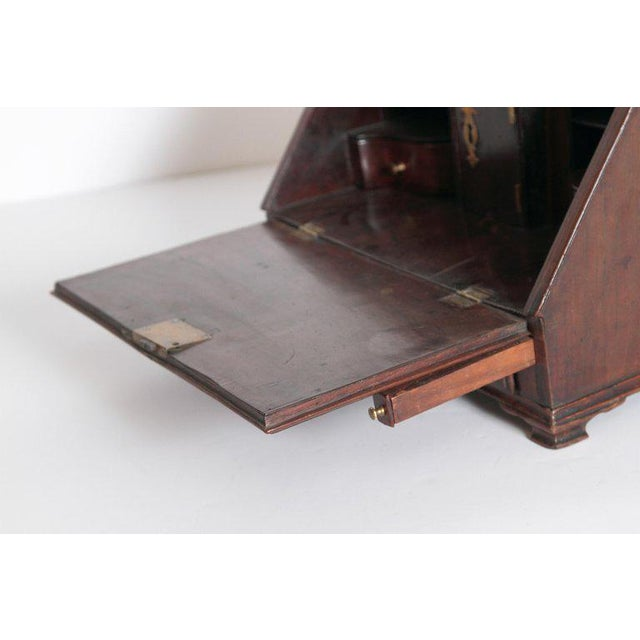 18th Century Georgian Mahogany Miniature Secretary For Sale - Image 10 of 13