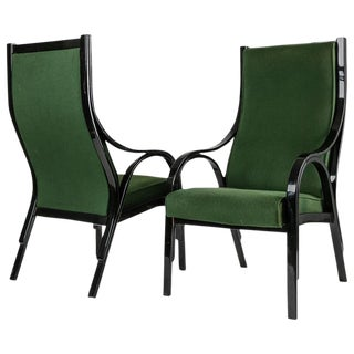 "Pair of ""Cavour"" Highback Armchairs by Gregotti, Meneghetti, Stoppino for SIM For Sale"