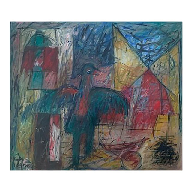 Harriet Tannin Night Intruder Large Painting For Sale