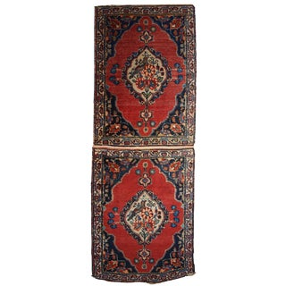 1910s Persian Tabriz Double Mat Rug - 1′8″ × 4′8″ For Sale