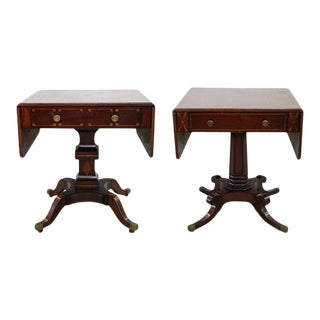 Antique Regency Mahogany Side Tables - a Pair For Sale