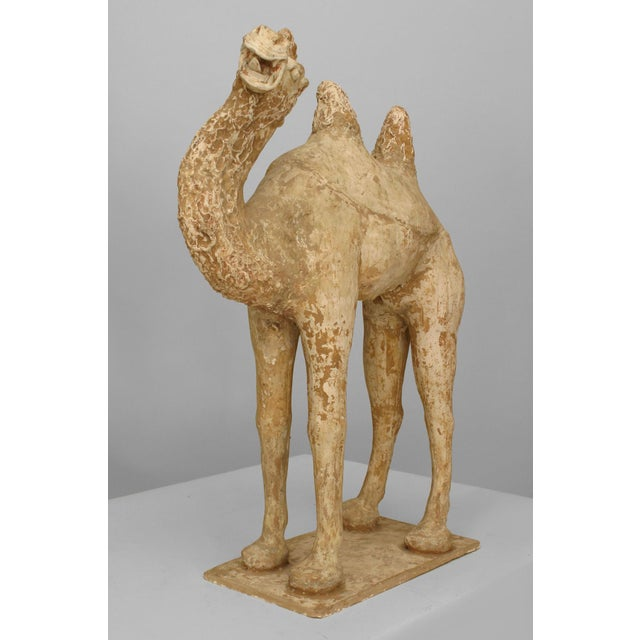15th Century & Earlier Asian Chinese Tang Dynasty Unglazed Pottery Camel For Sale - Image 5 of 7
