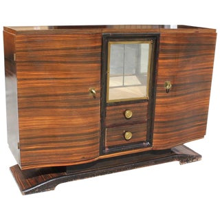 1940s Maurice Rinck French Art Deco Macassar Ebony Sideboard / Buffet For Sale