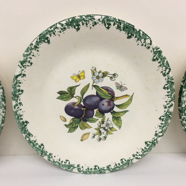 Italian Italian Tre Ci Fruit Plates - Set of 6 For Sale - Image 3 of 11