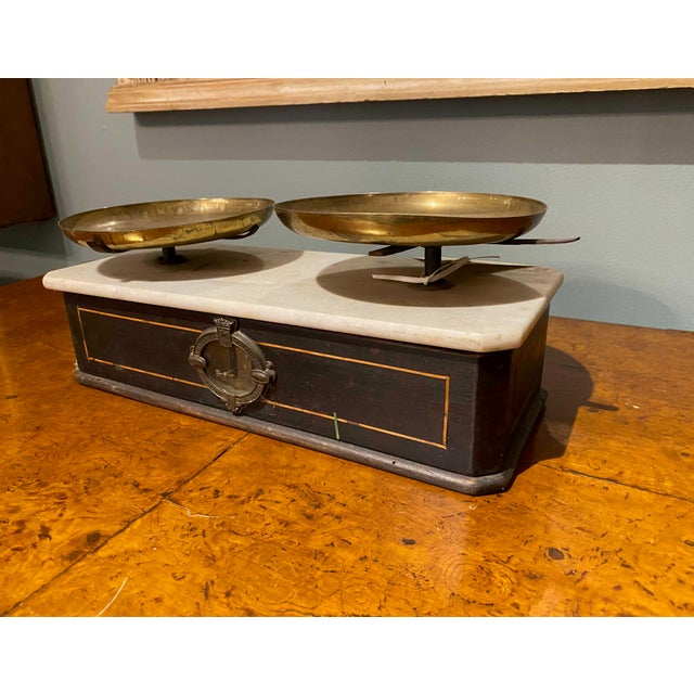 Late 19th Century Napoleon III Marble Balance Scale For Sale In Dallas - Image 6 of 7