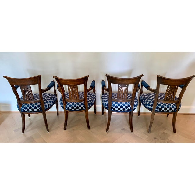 Late 18th Century Vintage French Armchairs- Set of 4 For Sale - Image 4 of 11