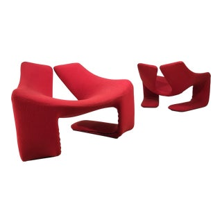 "Kwok Hoi Chan for Steiner Paris ""Zen"" Lounge Chairs - A Pair"