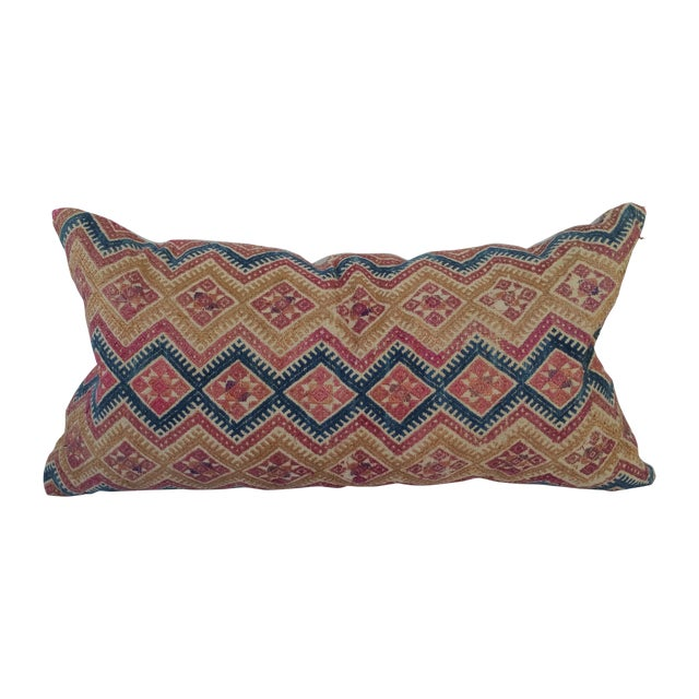Silk Embroidered Hill Tribe Pillow - Image 1 of 5