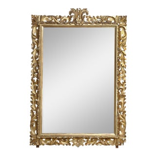 Gold Gilded Mirror For Sale