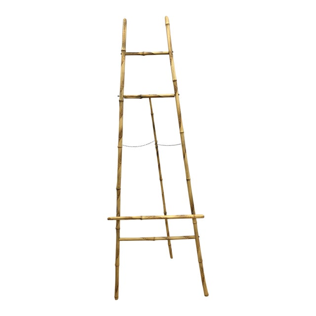 1920s Vintage Bamboo Floor Display Easel For Sale