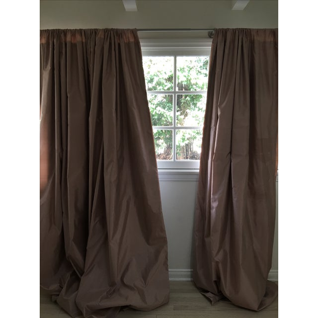 Offered is a set of 3 silk shantung drapes in near new condition; purchased from Serena and Lily. The curtains are a...