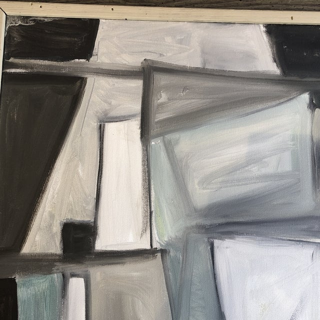 Original Stewart Ross Modernist Abstract Painting For Sale - Image 4 of 6
