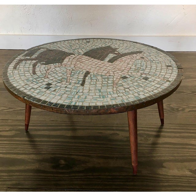 Coffee Mid Century Modern Mosaic Tiled Coffee Table For Sale - Image 8 of 8