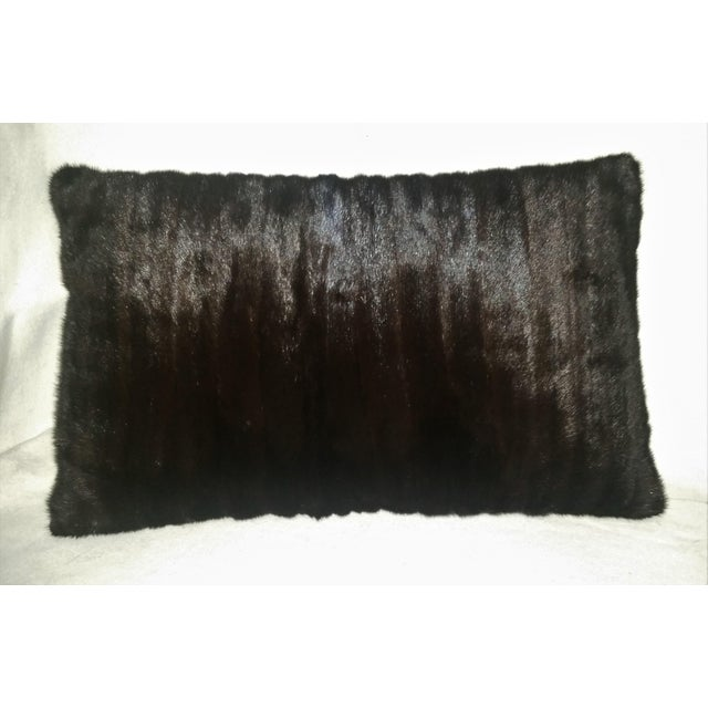 Contemporary Contemporary Dark Brown Almost Black Mink Pillows - a Pair For Sale - Image 3 of 7