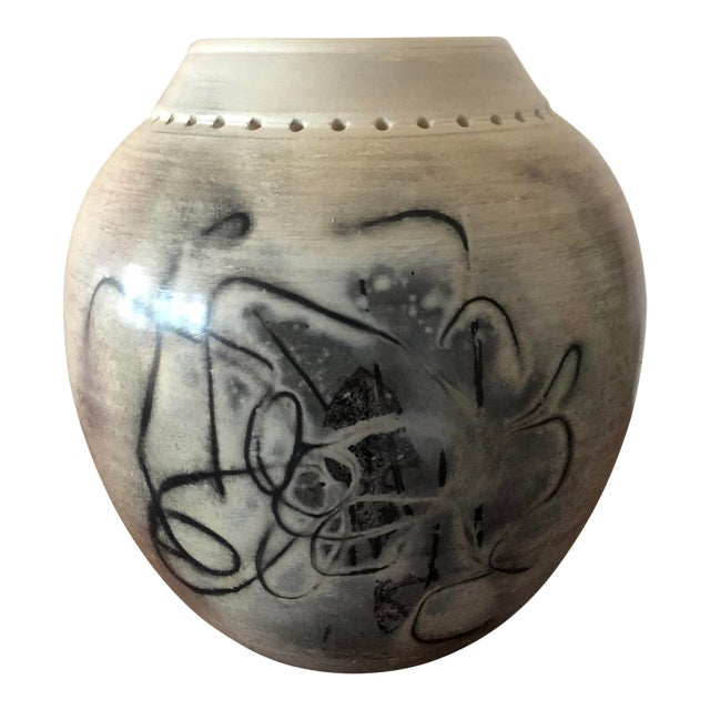Final Price! Ceramic Signed Pottery Vase For Sale