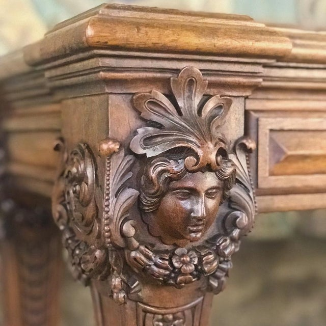 Late 19th Century 19th Century French Louis XIV Walnut Console For Sale - Image 5 of 13
