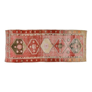 "Vintage Turkish Oushak Rug,4'3""x10'4"""