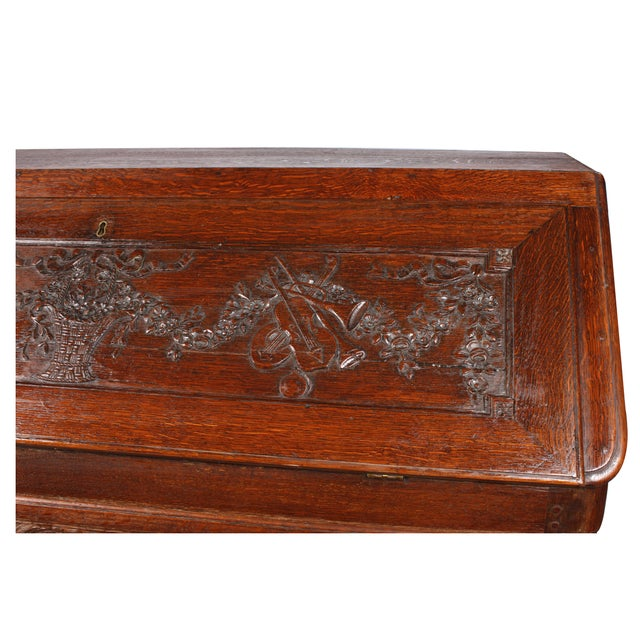 18th C. Louis XVI Style Fall Front Desk For Sale - Image 5 of 6