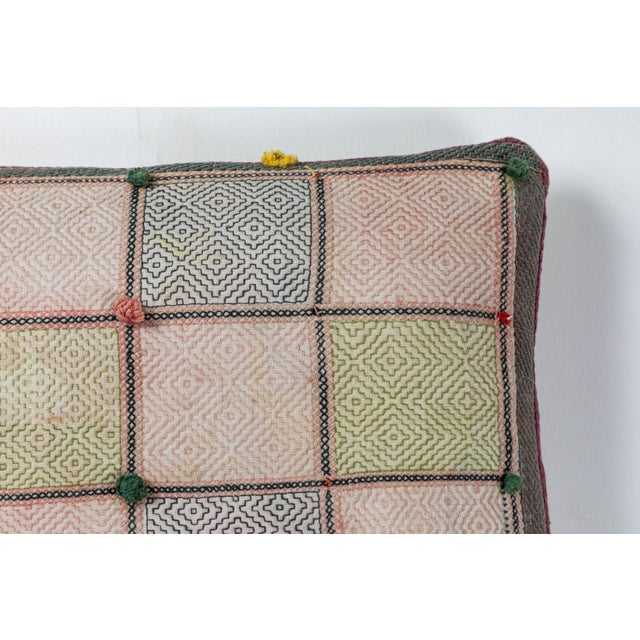 Asian Swat Valley Embroidery Pillow For Sale - Image 3 of 5