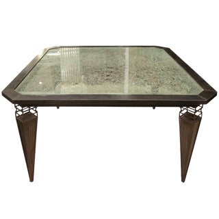 Kuramata Inspired Handcrafted Modern Industrial Italian Dining / Center Table For Sale