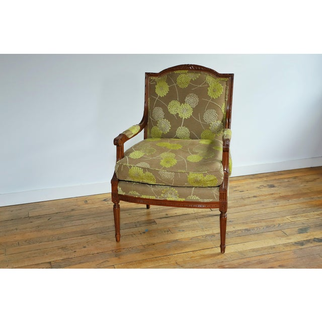 Lewis Mittman Fauteuil in Cream Velvet From Waldorf Astoria New York For Sale - Image 9 of 12