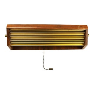 Gerald Thurston Louvers Lightolier Eames Era Wall Sconce