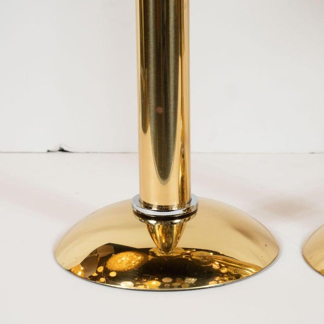 This stunning and dramatic set of candlesticks were realized by Karl Springer- one of the most influential and important...
