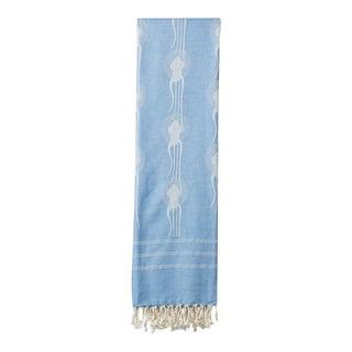 Squid Deco Design Blue Turkish Towel For Sale