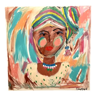"""Myra"" Abstract Portrait of Woman Painting For Sale"