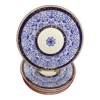 Antique 19th Century Royal Worcester Royal Lily Plates - Set of 6 For Sale