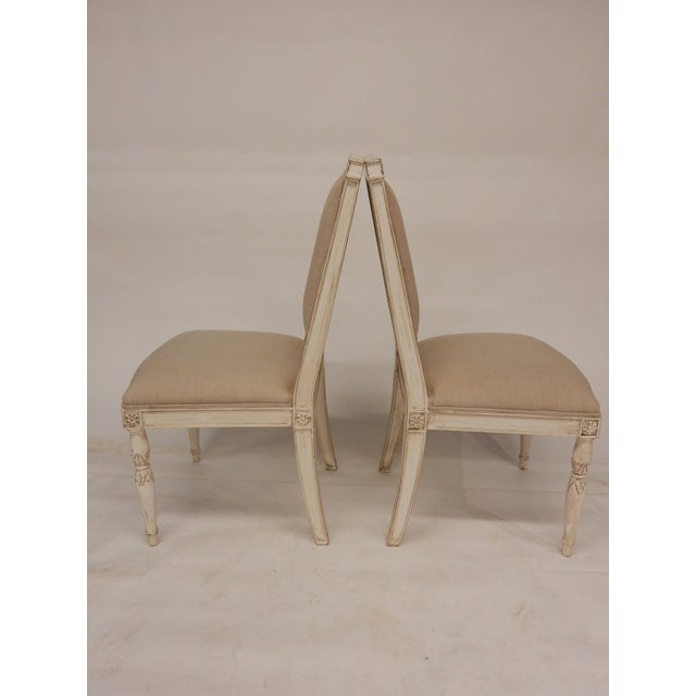 Traditional Four Painted Directoire Style Side Chairs For Sale - Image 3 of 7